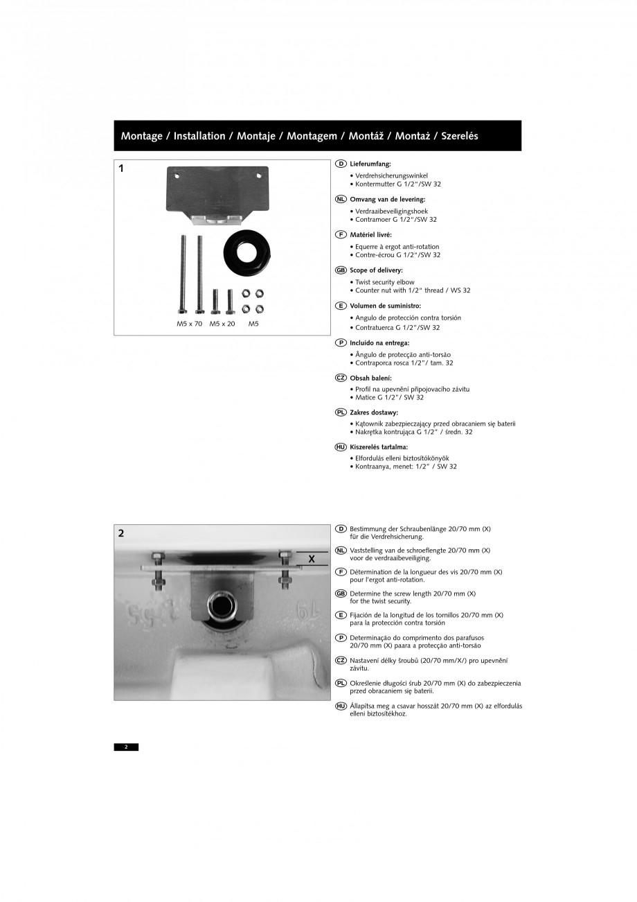 Pagina 2 - Accesorii pentru baterii pentru lavoare - Siguranta antirotire SCHELL PETIT SC Accesorii ...
