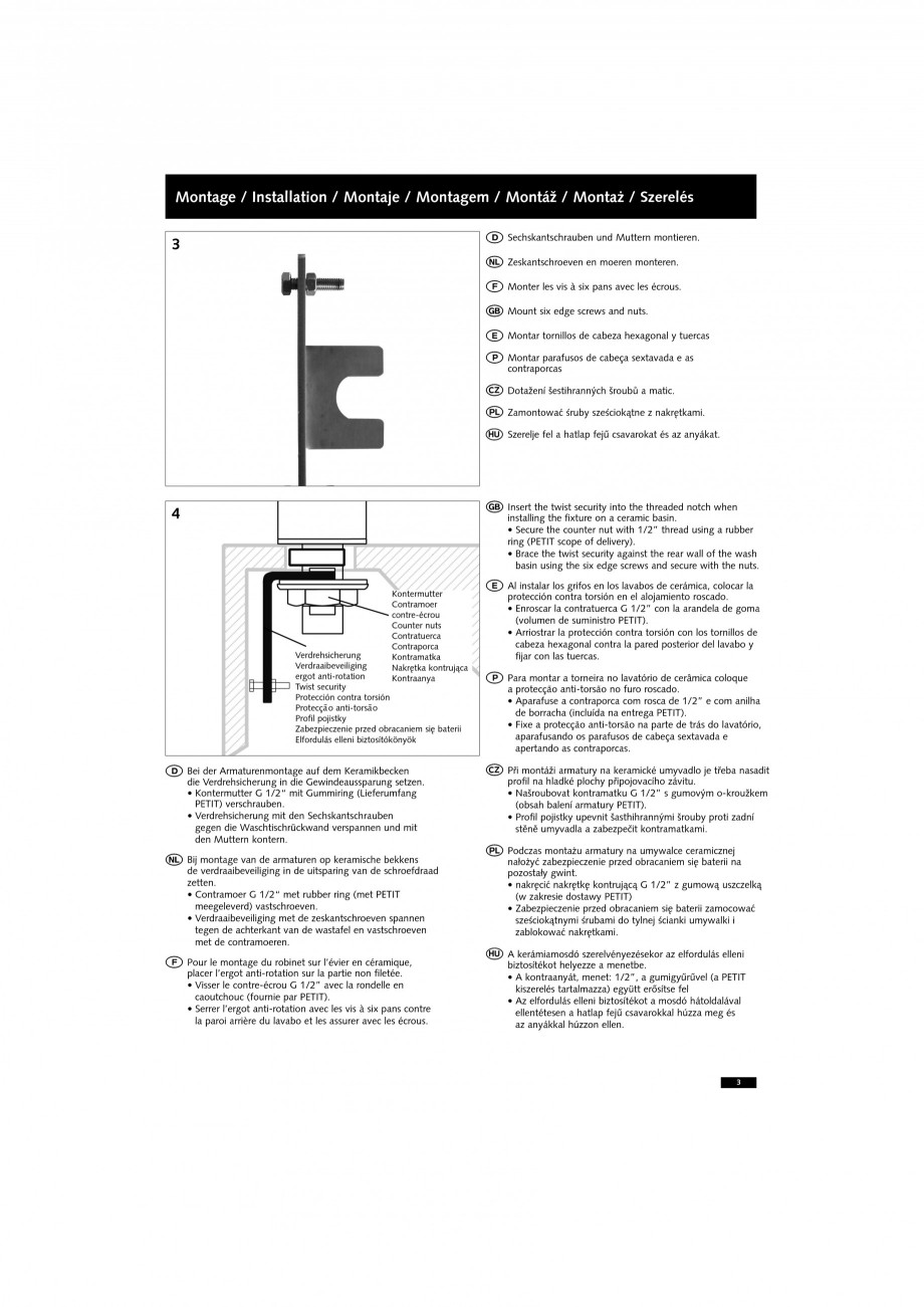 Pagina 3 - Accesorii pentru baterii pentru lavoare - Siguranta antirotire SCHELL PETIT SC Accesorii ...