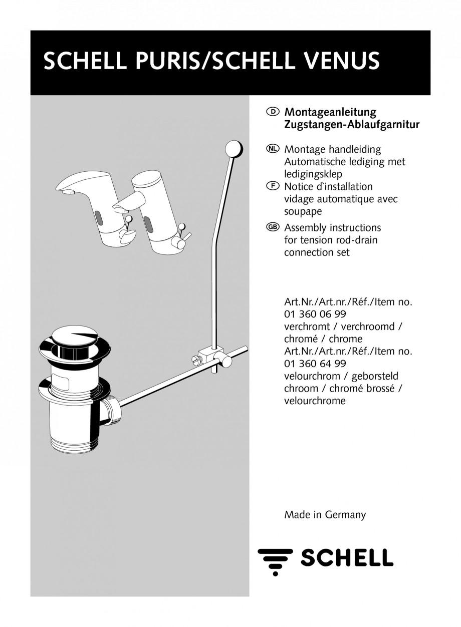 Pagina 1 - Accesorii pentru baterii pentru lavoare - Set ventil automat SCHELL PURIS E Tip HD-K,...
