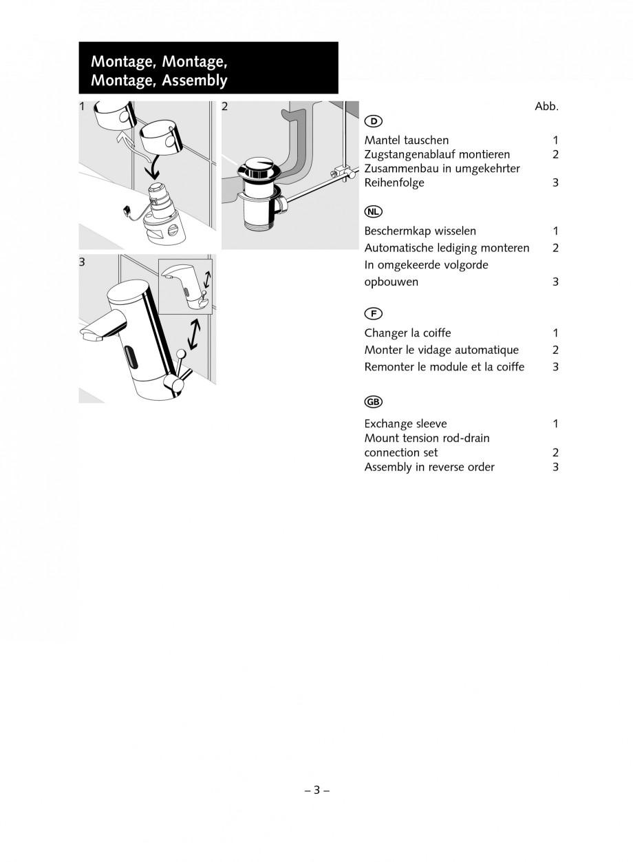 Pagina 3 - Accesorii pentru baterii pentru lavoare - Set ventil automat SCHELL PURIS E Tip HD-K,...
