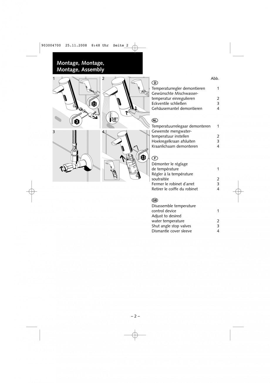 Pagina 2 - Accesorii pentru baterii pentru lavoare - Inel pentru prereglarea temperaturii apei...