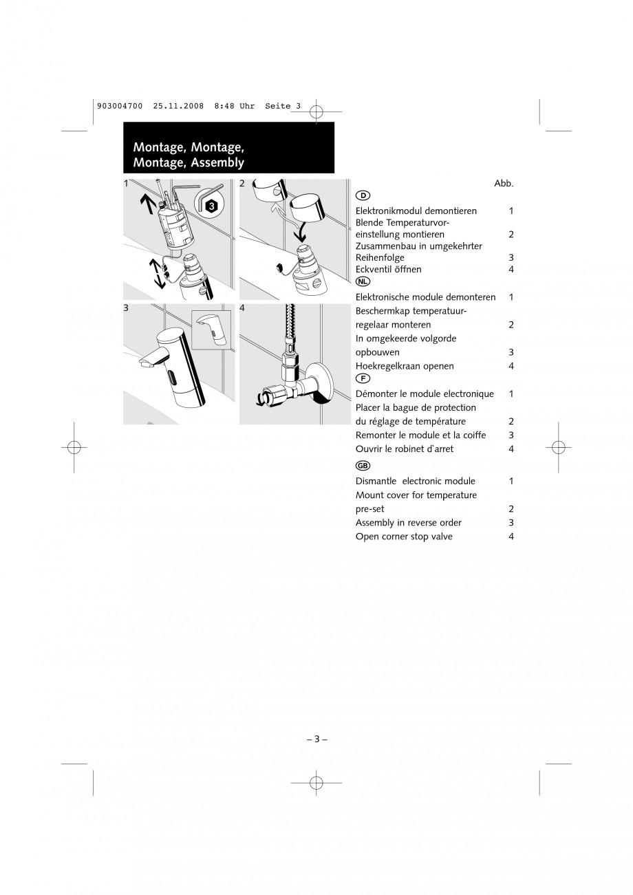 Pagina 3 - Accesorii pentru baterii pentru lavoare - Inel pentru prereglarea temperaturii apei...
