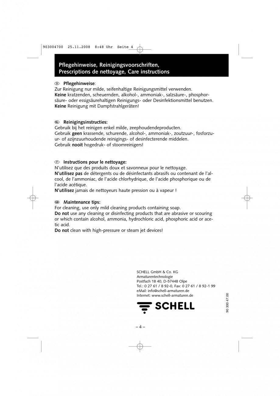 Pagina 4 - Accesorii pentru baterii pentru lavoare - Inel pentru prereglarea temperaturii apei...