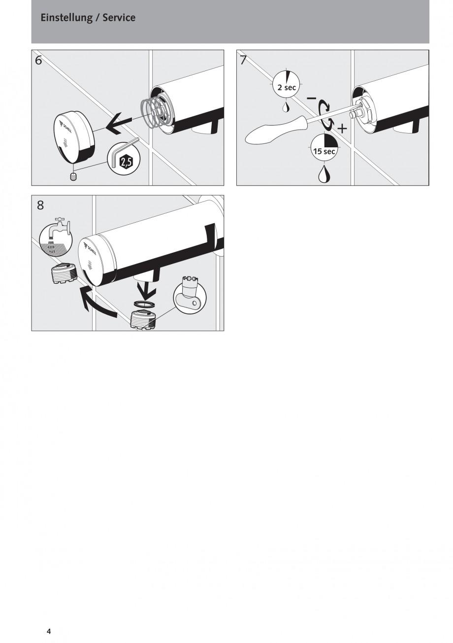 Pagina 4 - Baterie cu temporizator cu montare in perete SCHELL PETIT SC Instructiuni montaj,...