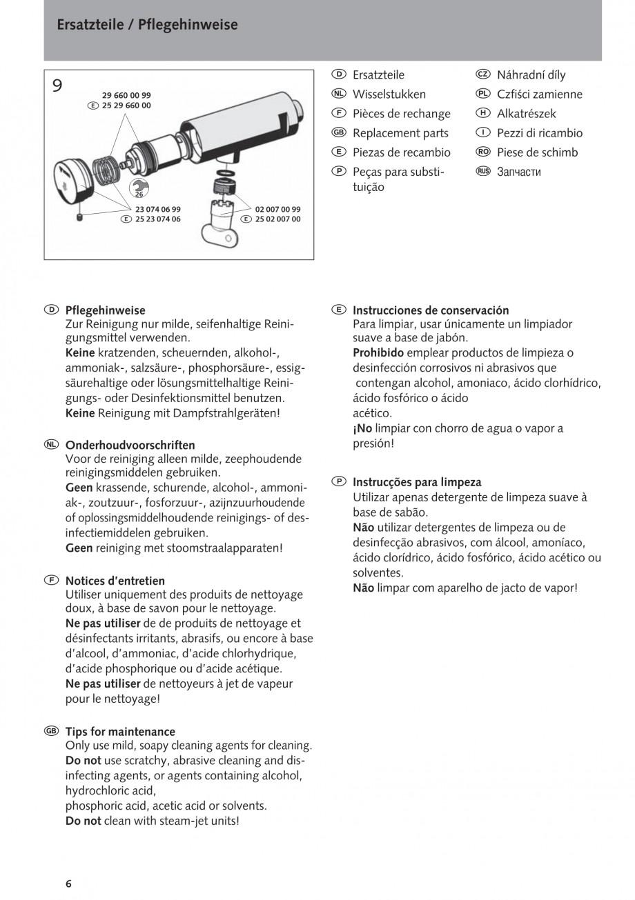 Pagina 6 - Baterie cu temporizator cu montare in perete SCHELL PETIT SC Instructiuni montaj,...