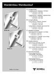 Baterii cu montare in perete pentru lavoare SCHELL - LINUS W-SC-M, LINUS W-SC-V