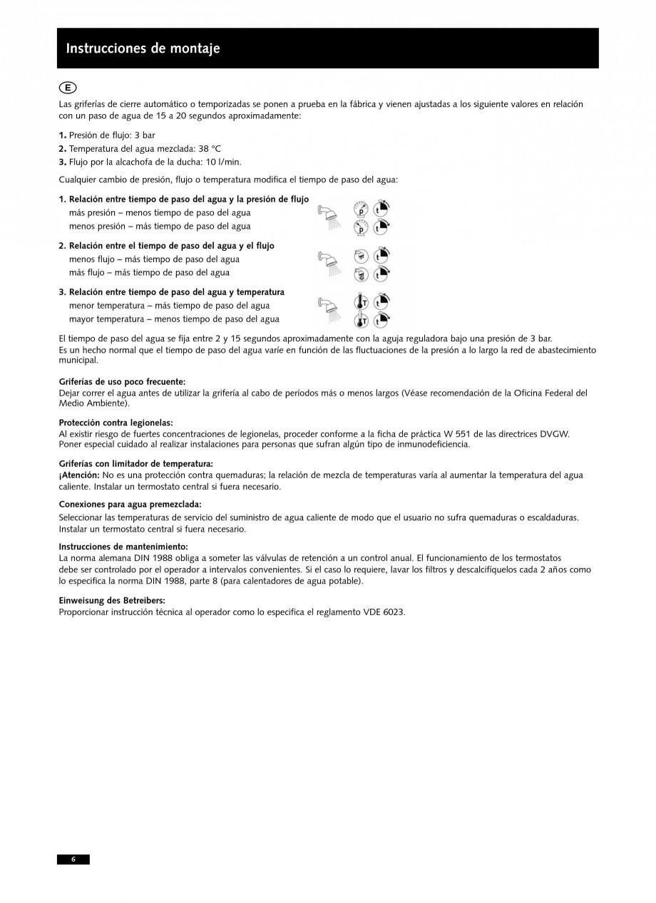 Pagina 6 - Baterii cu montare in perete pentru lavoare SCHELL LINUS W-SC-M, LINUS W-SC-V...