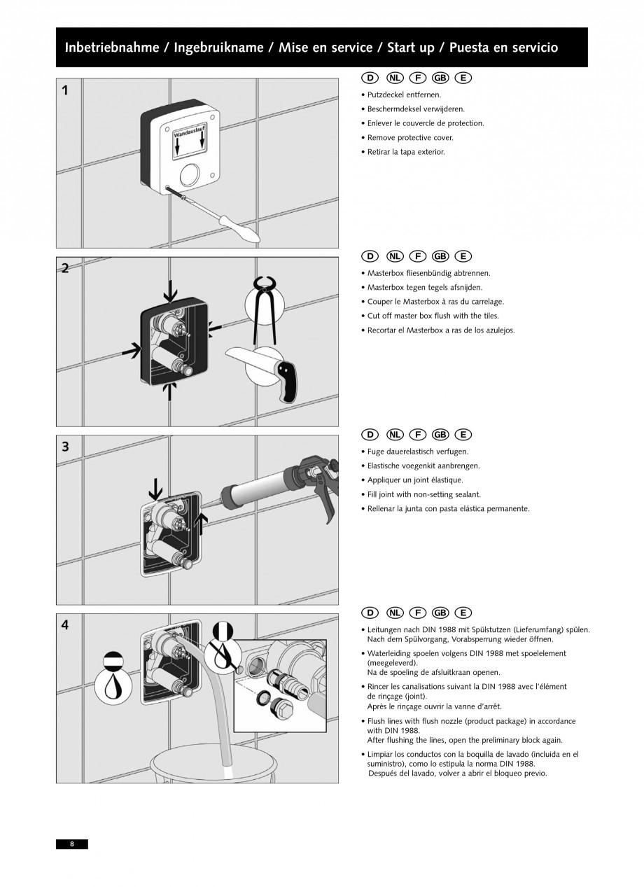 Pagina 8 - Baterii cu montare in perete pentru lavoare SCHELL LINUS W-SC-M, LINUS W-SC-V...