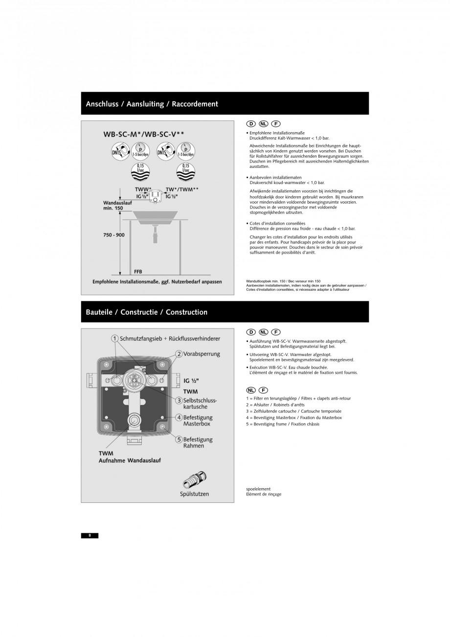 Pagina 8 - Doza pentru montare in perete SCHELL WB-SC-M, WB-SC-V Instructiuni montaj, utilizare...
