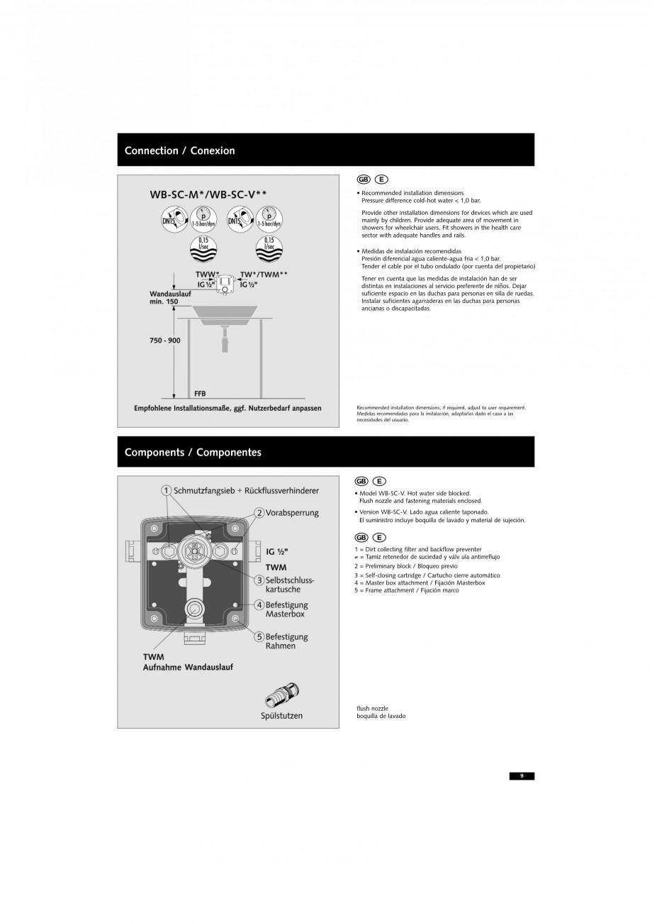 Pagina 9 - Doza pentru montare in perete SCHELL WB-SC-M, WB-SC-V Instructiuni montaj, utilizare...