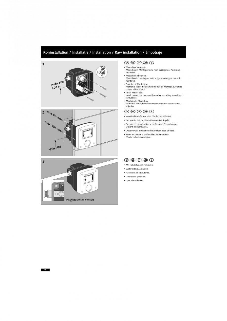 Pagina 10 - Doza pentru montare in perete SCHELL WB-SC-M, WB-SC-V Instructiuni montaj, utilizare...