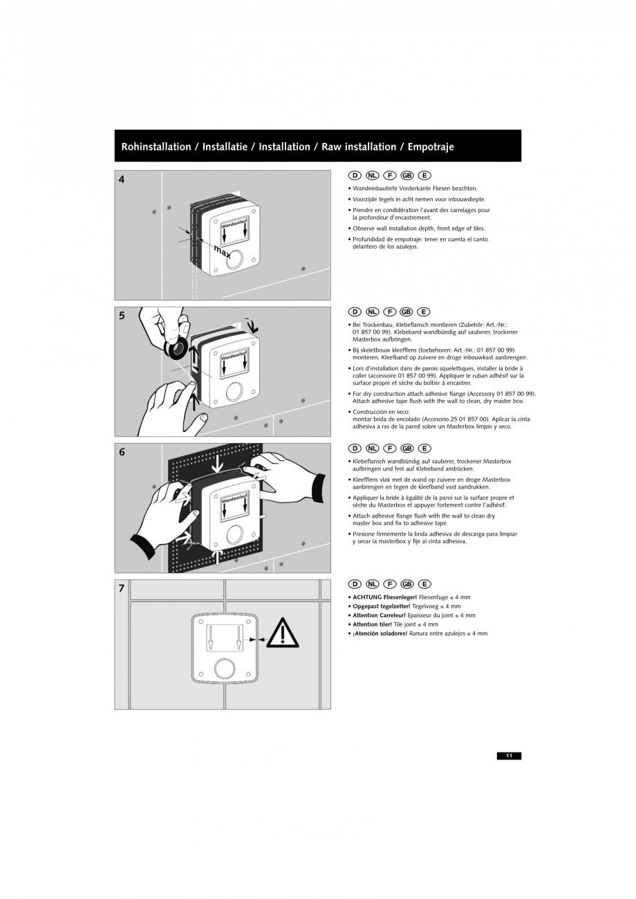 Pagina 11 - Doza pentru montare in perete SCHELL WB-SC-M, WB-SC-V Instructiuni montaj, utilizare...