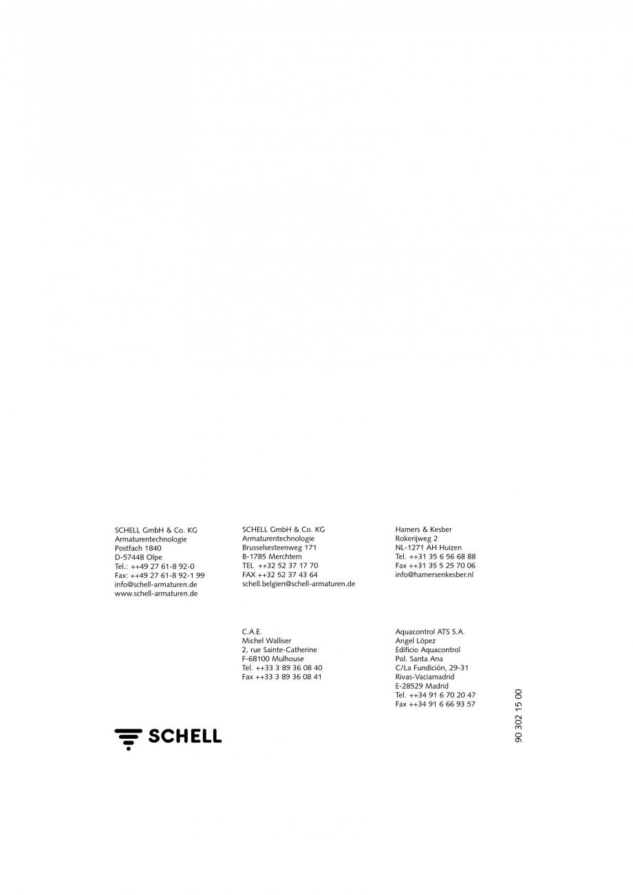 Pagina 12 - Doza pentru montare in perete SCHELL WB-SC-M, WB-SC-V Instructiuni montaj, utilizare...