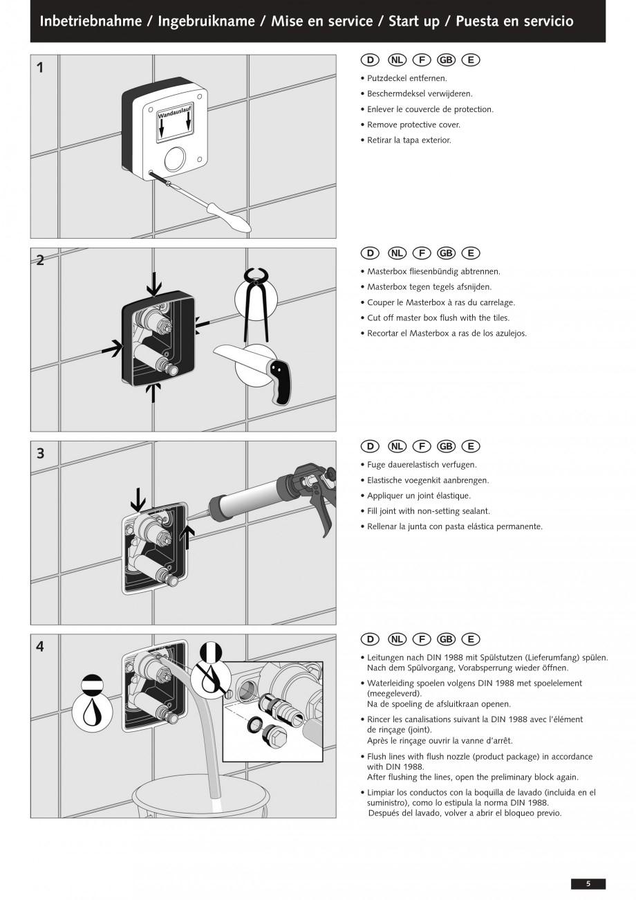 Pagina 5 - Baterii cu montare in perete pentru lavoare SCHELL Instructiuni montaj, utilizare Romana ...