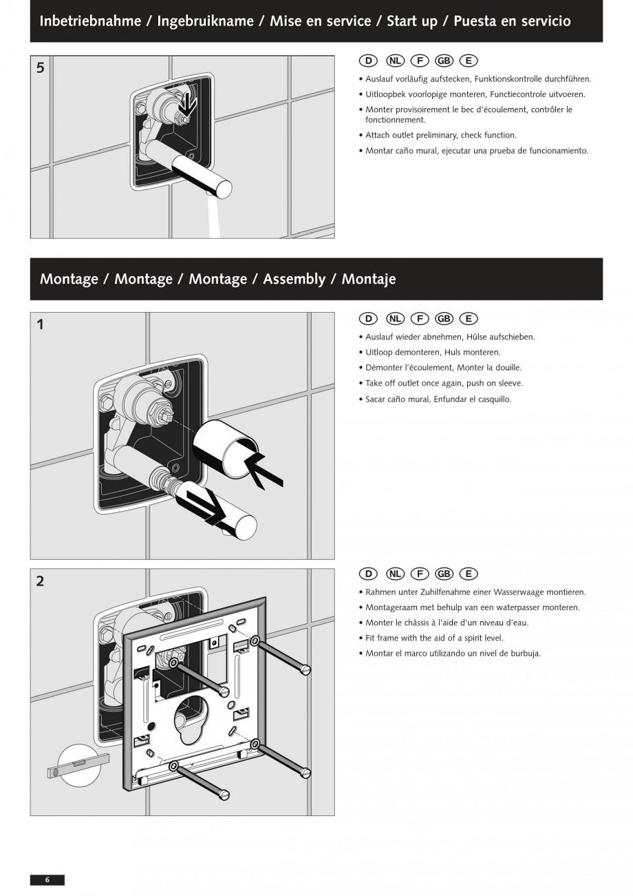 Pagina 6 - Baterii cu montare in perete pentru lavoare SCHELL Instructiuni montaj, utilizare Romana ...