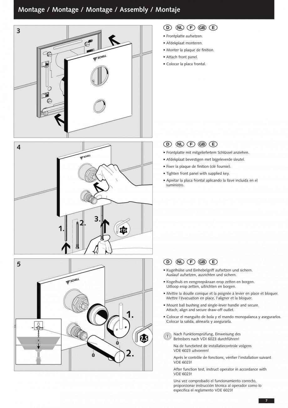 Pagina 7 - Baterii cu montare in perete pentru lavoare SCHELL Instructiuni montaj, utilizare Romana ...
