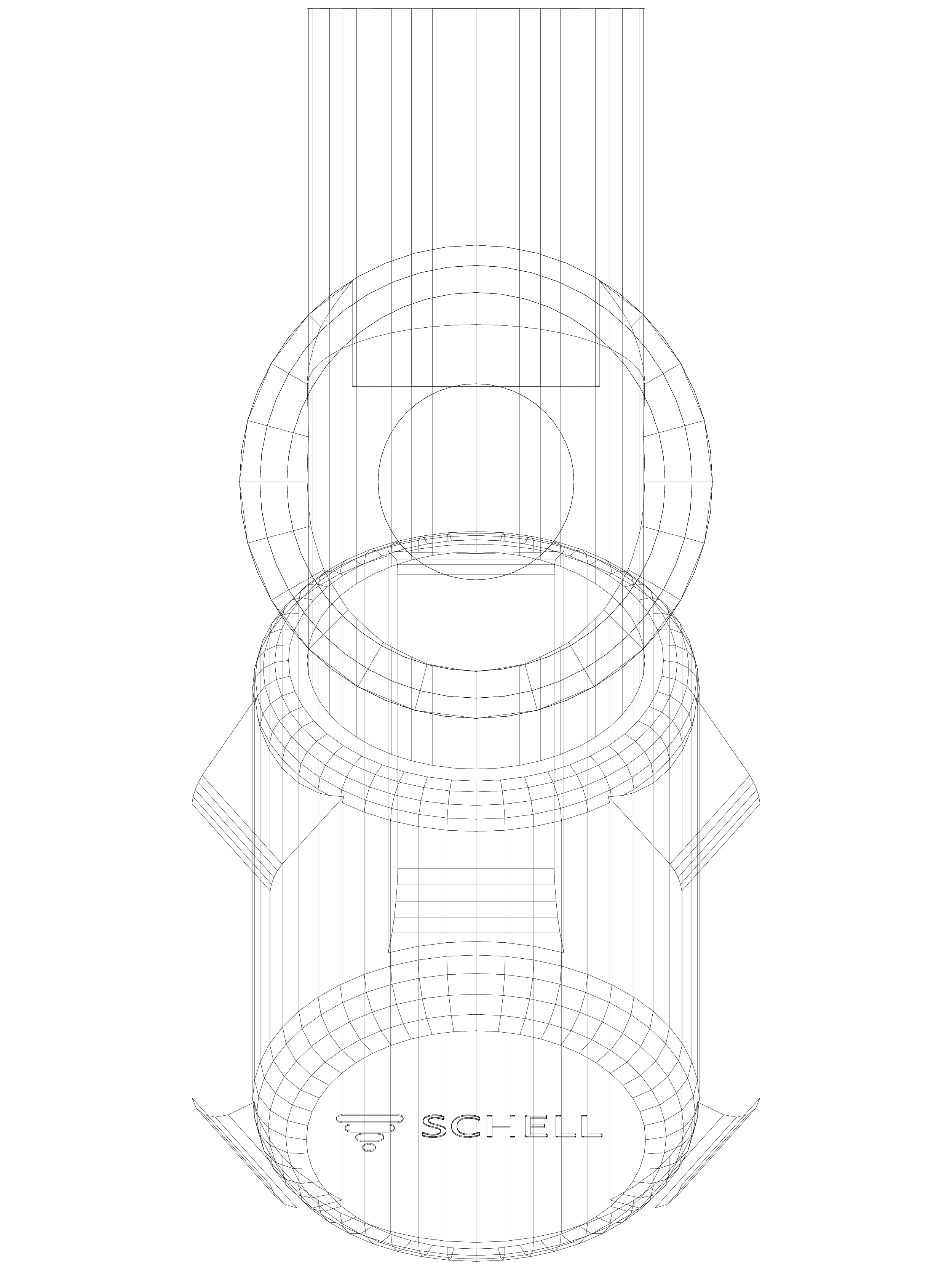 Pagina 1 - CAD-DWG Robinet cu racordare aparat COMFORT cu scaun inclinat SCHELL Detaliu de produs...