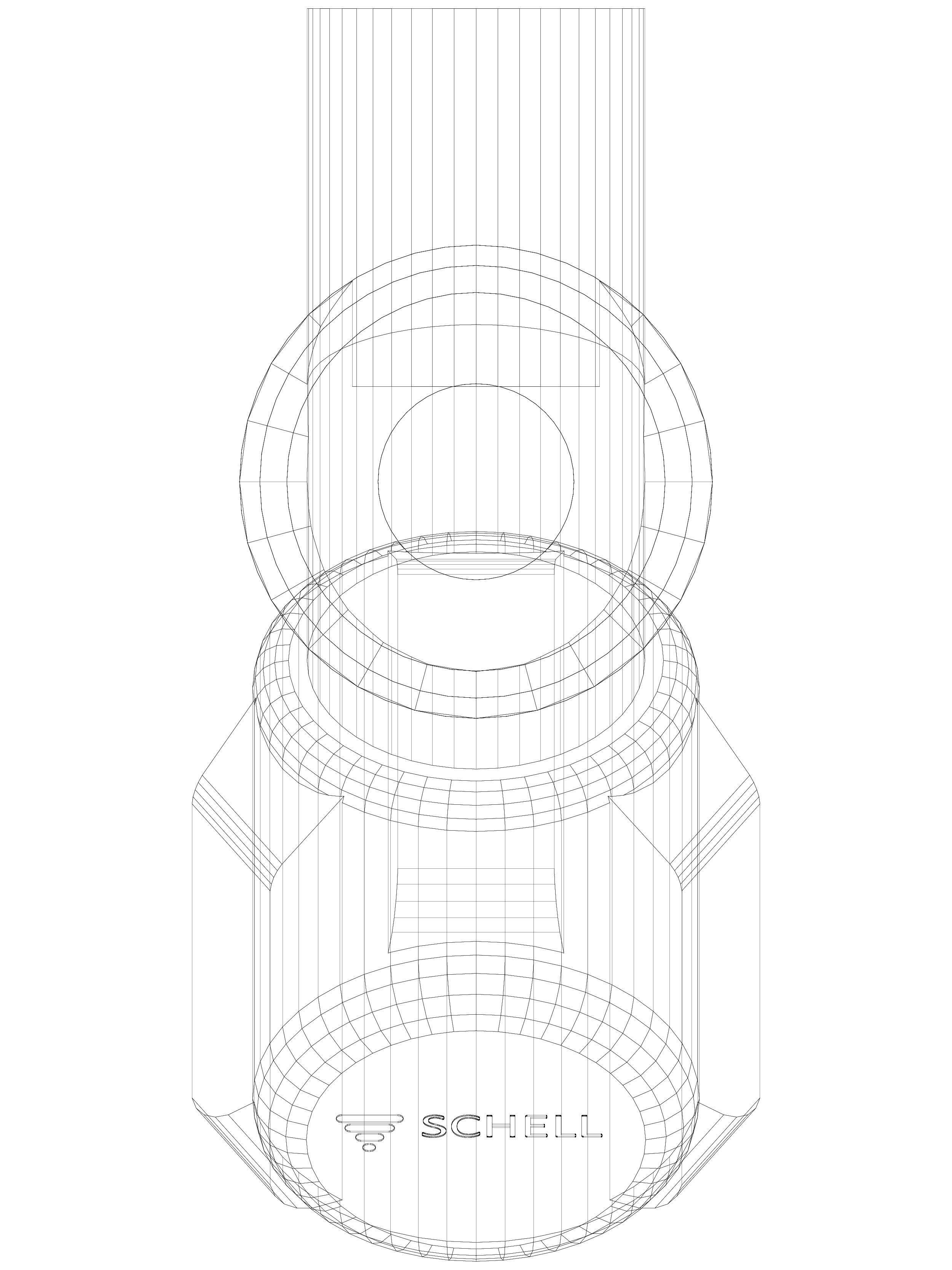 Pagina 1 - CAD-DWG Robinet dublu servici cu scaun inclinat SCHELL Detaliu de produs Robinete dublu...