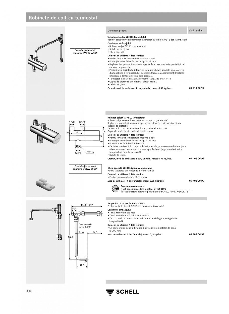 Pagina 1 - Caracteristici tehnice SCHELL Robinete de colt cu termostat Fisa tehnica Romana Robinete ...