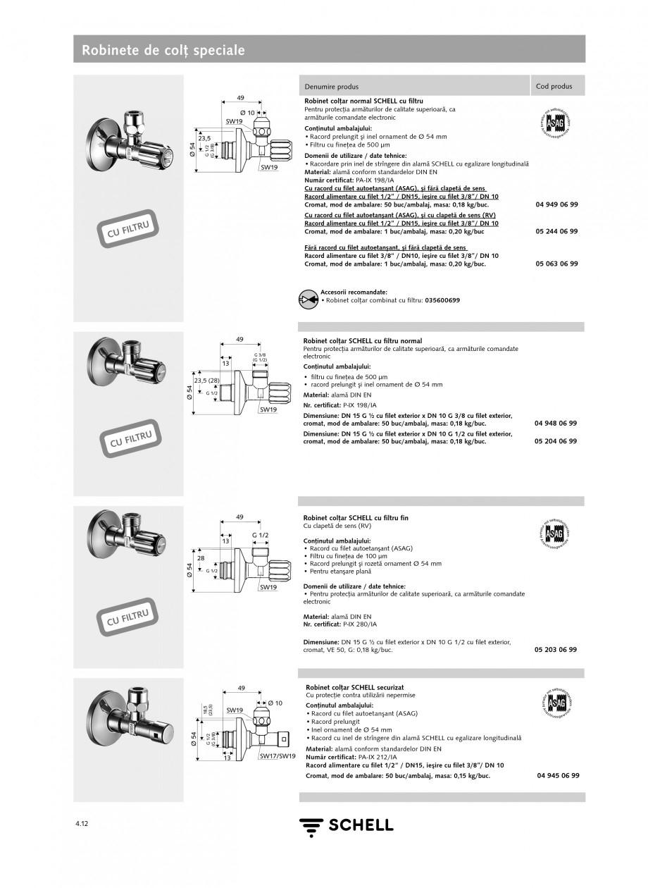 Pagina 1 - Robinete de colt speciale SCHELL Fisa tehnica Romana Robinete de colţ speciale Denumire ...