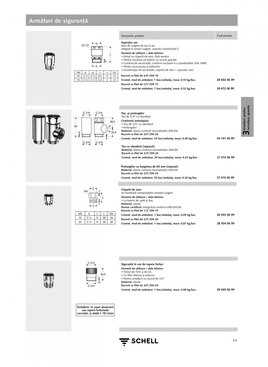 Pagina 1 - Caracteristici tehnice SCHELL Armaturi de siguranta Fisa tehnica Romana Armături de...