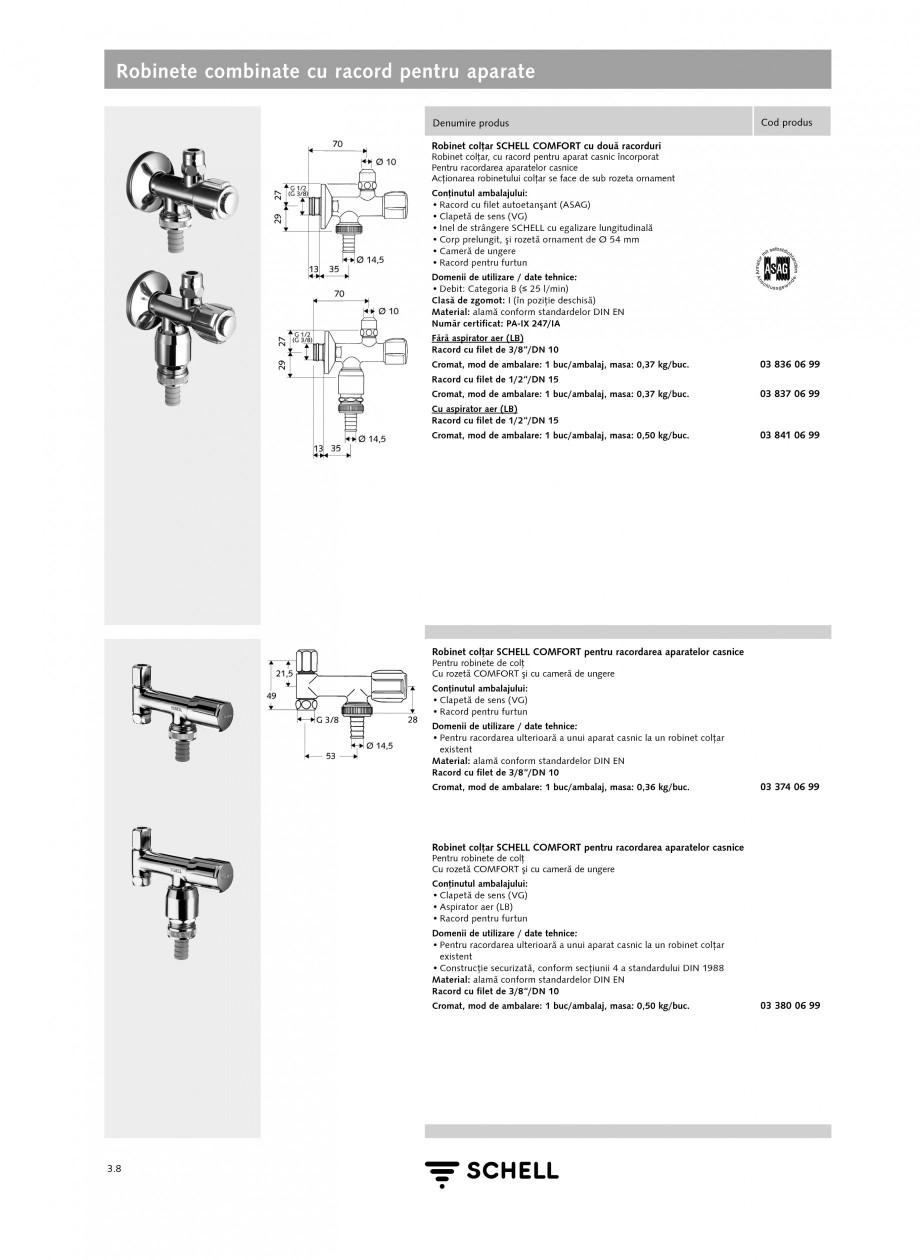 Pagina 2 - Caracteristici tehnice SCHELL Robinete combinate cu racord pentru aparate Fisa tehnica...