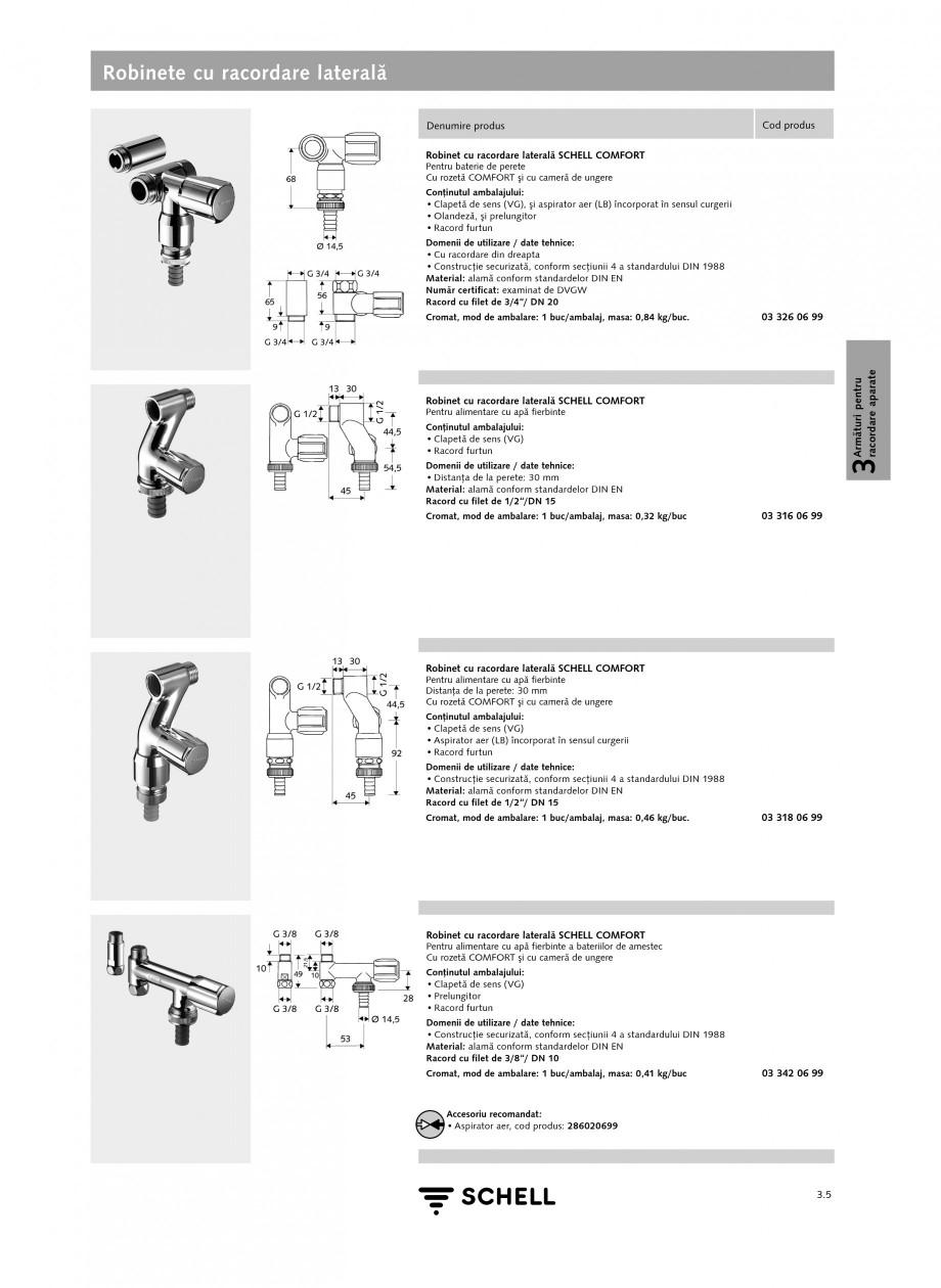Pagina 2 - Caracteristici tehnice SCHELL Robinete cu racordare laterala Fisa tehnica Romana  4 a...