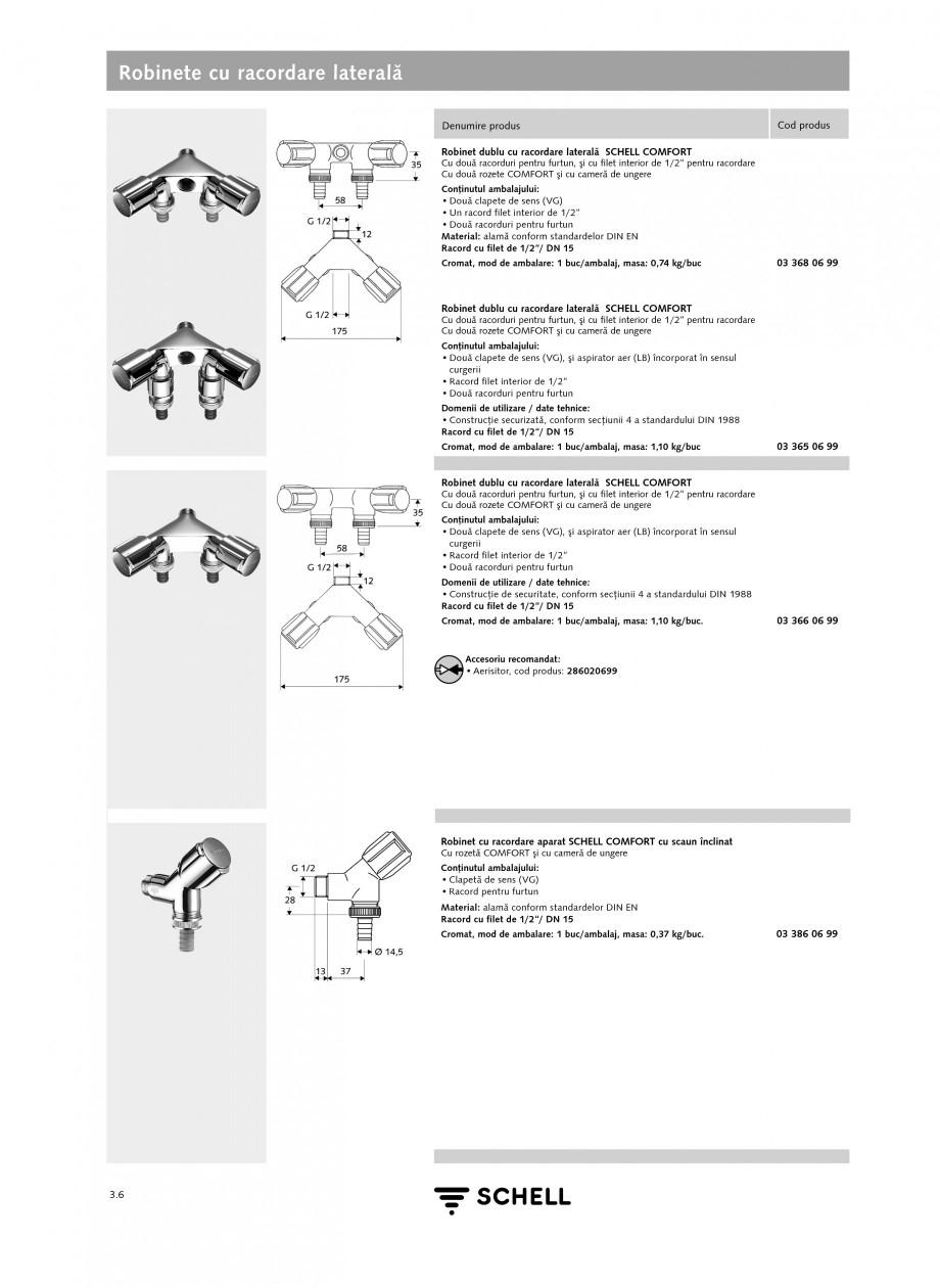 Pagina 3 - Caracteristici tehnice SCHELL Robinete cu racordare laterala Fisa tehnica Romana...