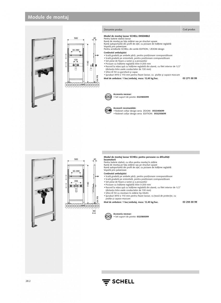 Pagina 1 - Caracteristici tehnice SCHELL Module de montaj Fisa tehnica Romana Module de montaj...
