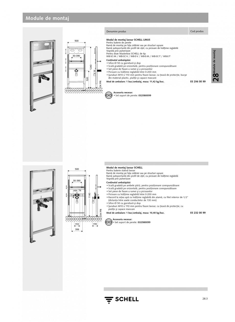 Pagina 2 - Caracteristici tehnice SCHELL Module de montaj Fisa tehnica Romana 099  Accesorii...