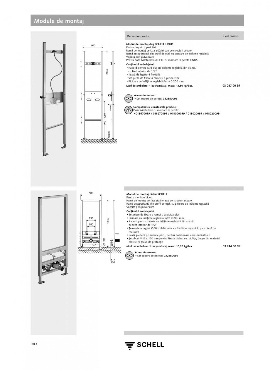 Pagina 3 - Caracteristici tehnice SCHELL Module de montaj Fisa tehnica Romana  mascare Mod de...
