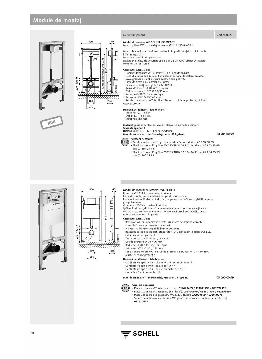 Pagina 5 - Caracteristici tehnice SCHELL Module de montaj Fisa tehnica Romana ELL LINUS Pentru...
