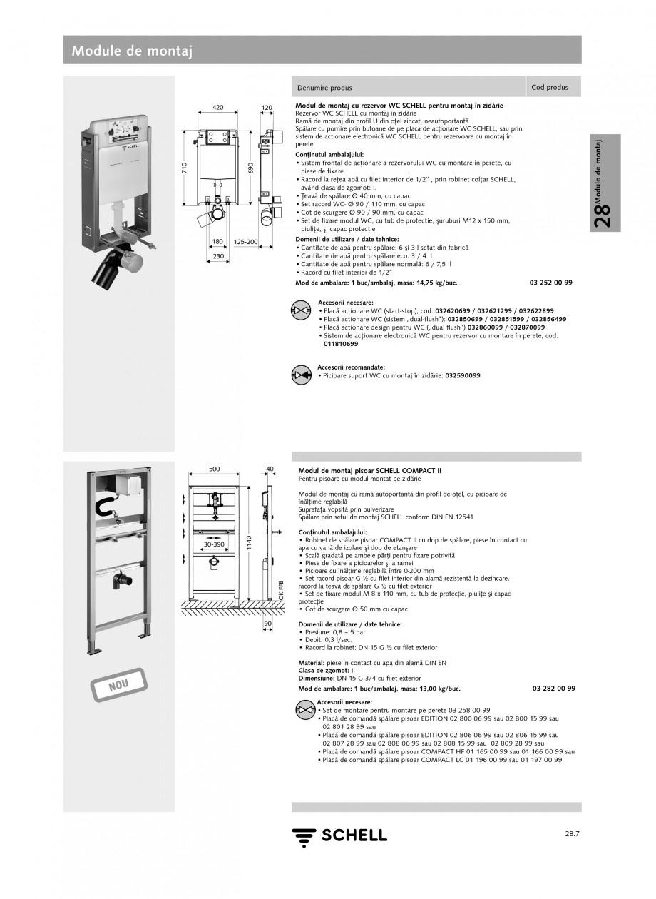 Pagina 6 - Caracteristici tehnice SCHELL Module de montaj Fisa tehnica Romana in pulverizare...