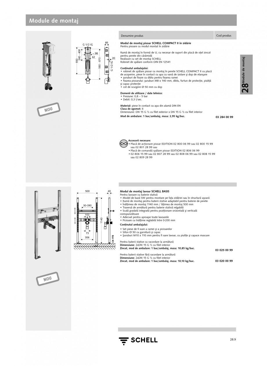 Pagina 8 - Caracteristici tehnice SCHELL Module de montaj Fisa tehnica Romana  plastic, pentru...