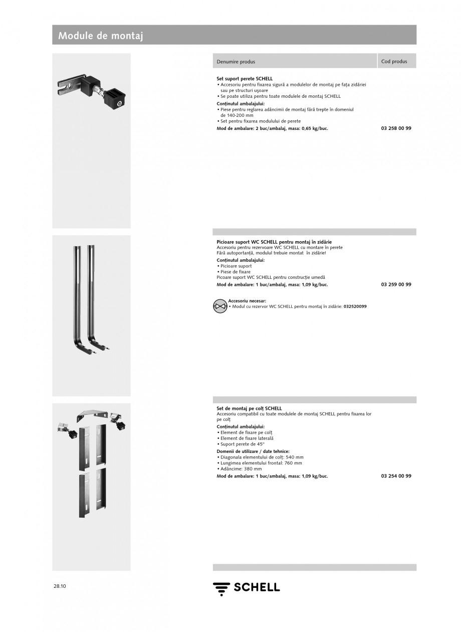 Pagina 9 - Caracteristici tehnice SCHELL Module de montaj Fisa tehnica Romana 2580099 • Placă de ...