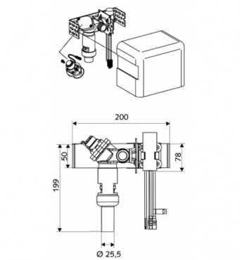 Prezentare produs Robinete cu senzor electronic cu montare in perete pentru spalare WC SCHELL - Poza 3