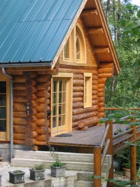 Case din lemn rotund NATURAL LIVING - Poza 3