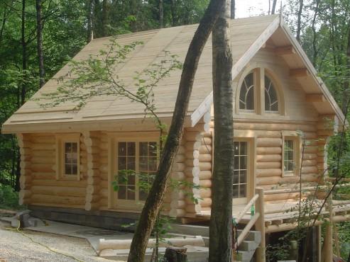 Case din lemn rotund NATURAL LIVING - Poza 12