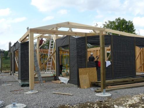 Fazele constructive ale unei case din lemn la cheie NATURAL LIVING - Poza 26