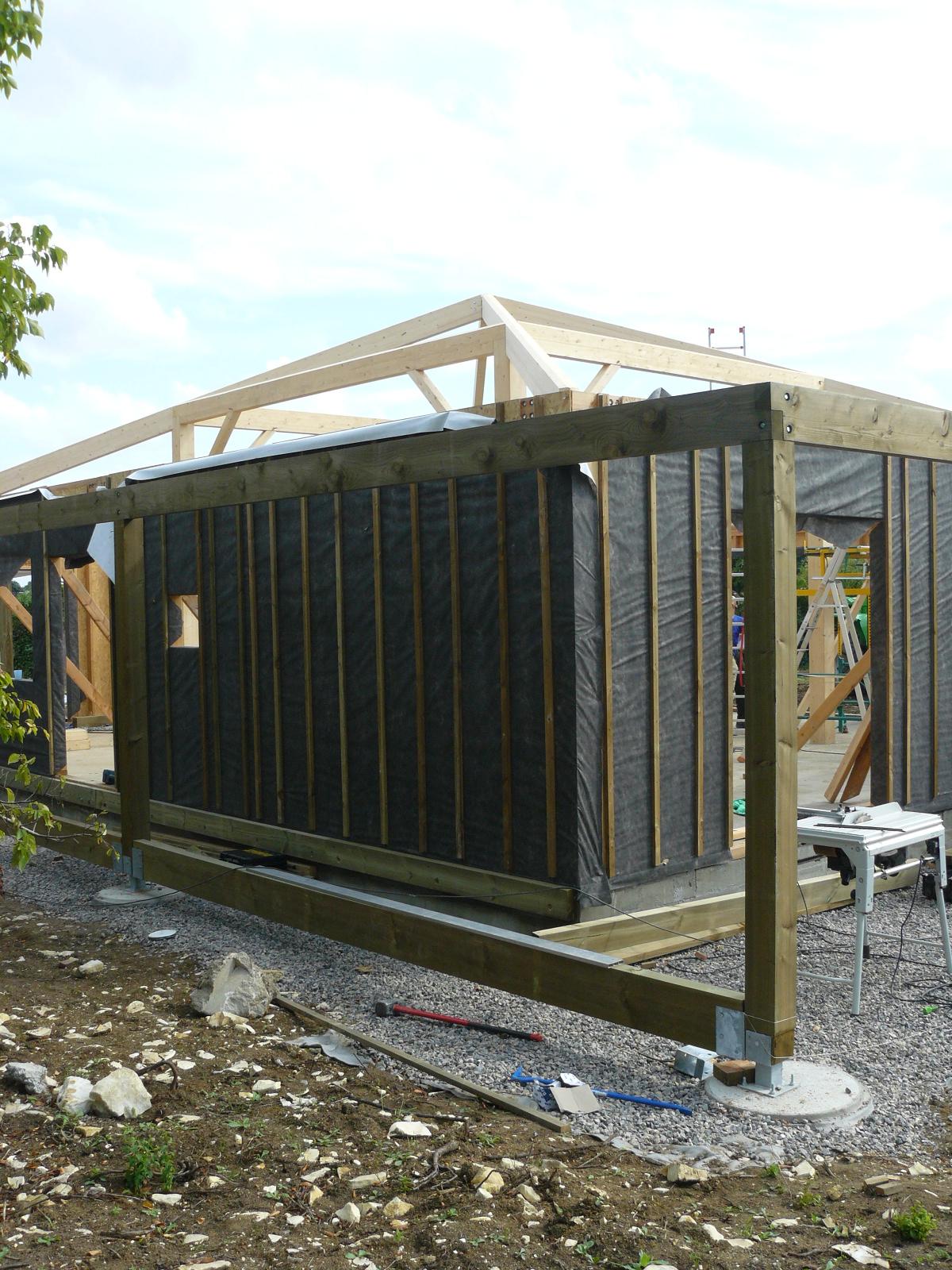 Fazele constructive ale unei case din lemn la cheie NATURAL LIVING - Poza 36