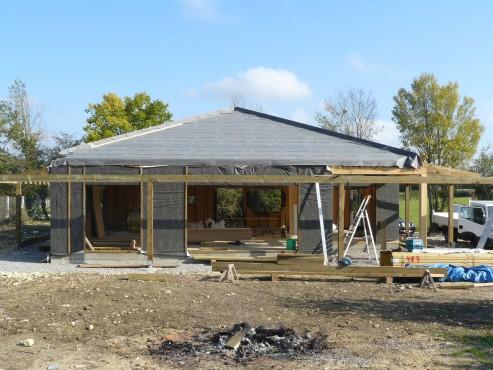 Fazele constructive ale unei case din lemn la cheie NATURAL LIVING - Poza 53