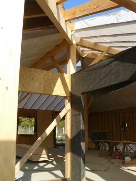 Fazele constructive ale unei case din lemn la cheie NATURAL LIVING - Poza 56
