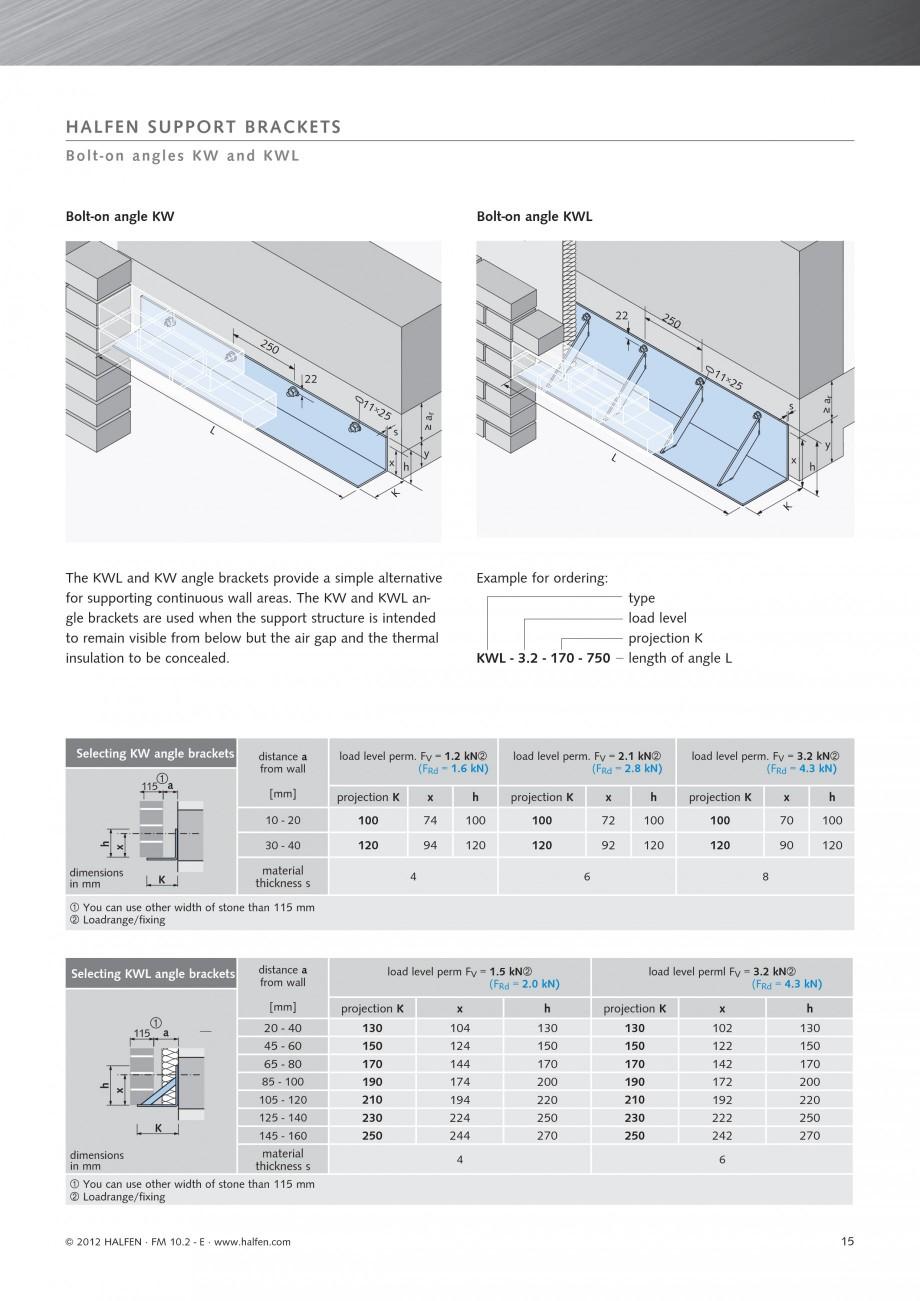 Expansion Joint Brackets : Fisa tehnica sisteme pentru fatade ventilate hk halfen