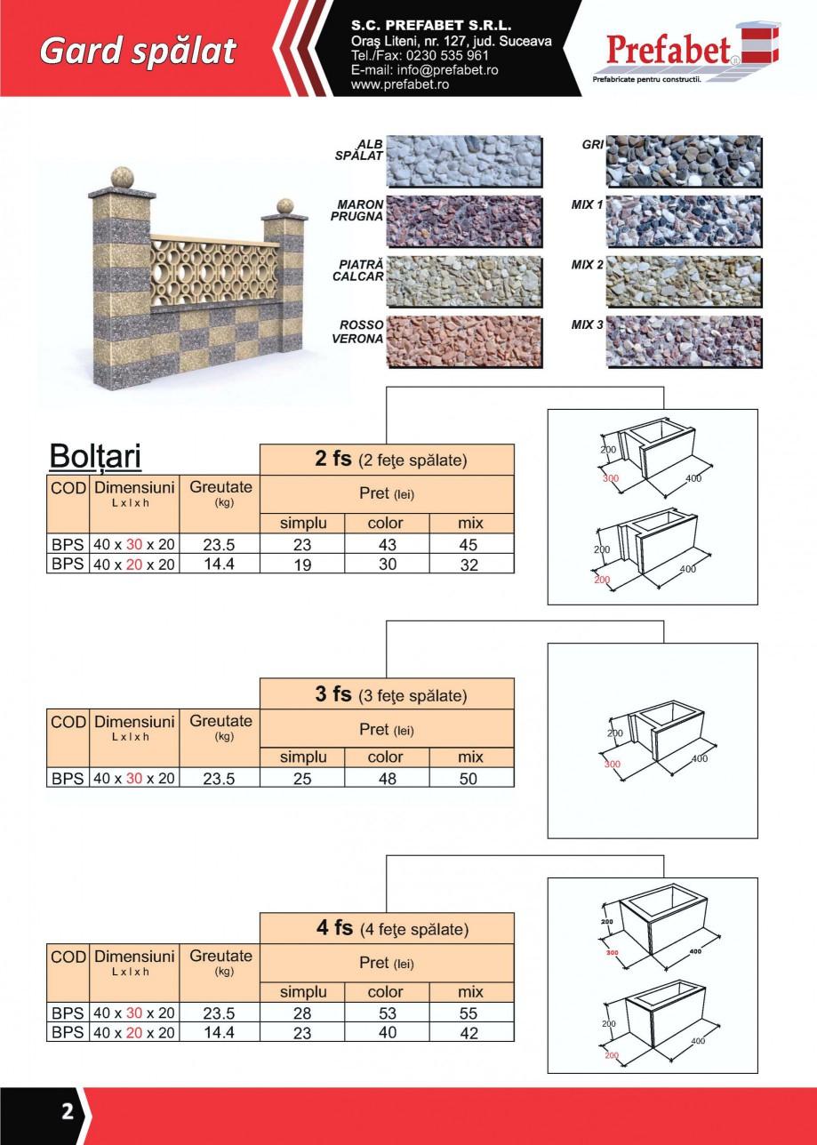 Pagina 1 - Gard modular Prefabet Spalat Fisa tehnica Romana