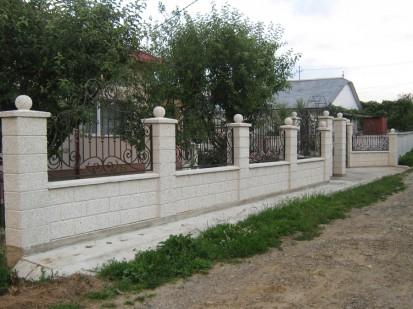 Gard spalat alb Spalat Gard modular din beton