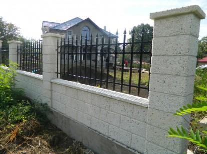 Gard spalat alb panou zidarie Spalat Gard modular din beton
