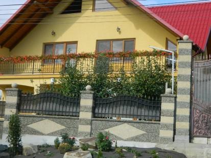 Gard spalat crem/gri panou romb Spalat Gard modular din beton