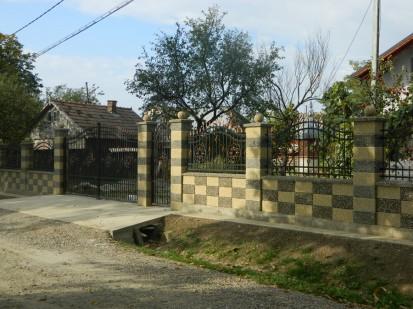 Gard spalat crem/gri panou sah Spalat Gard modular din beton