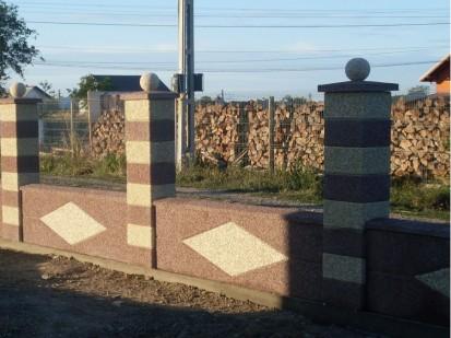Gard spalat marron prugna panou solzi Spalat Gard modular din beton