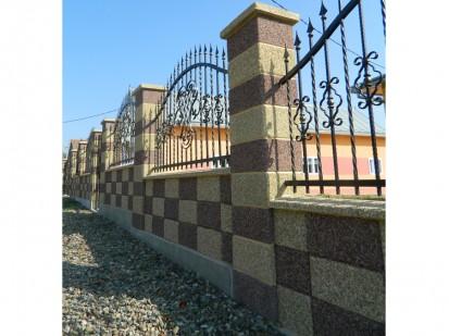 Gard spalat marron prugna/crem panou sah Spalat Gard modular din beton